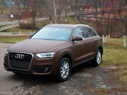 Оклейка Audi Q3 пленкой Arlon chocolate brown